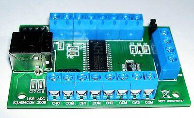 USB-Messmodul, 12 Bit, 8 Kanäle + PC nach I2C Adapter