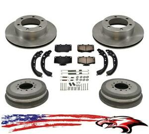 For 96-00 Toyota Rav4 Rav-4 Front Rotors Pads /& Drums Brakes Shoes Springs 7pc
