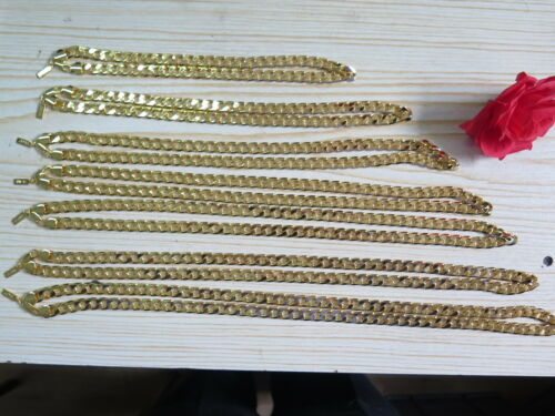 """Polymer Protected 20""""-36"""" 10mm 18K Yellow Gold Plated Necklace Men/'s Present"""