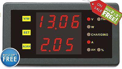 Solar Battery Monitor DC 90V30A Voltmeter Ammeter Current Voltage Detector 999ah