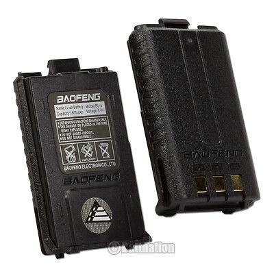 2 x BAOFENG BL-5 1800mAh 7.4V Li-Ion Battery BF-F8 BF-F8HP BF-F9 V2 + HP Radio