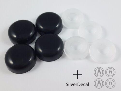 4//SET BLACK BOLT COVER ACURA DECAL LICENSE PLATE FRAME SCREW CAP CAR