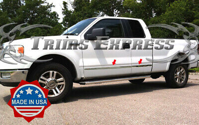 """TYGER Fits 99-11 Super Duty Ext Cab Short Bed Body Side Molding Trim 1.5/"""" 4PC"""