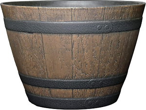 Large Indoor Outdoor Rustic Whiskey Barrel Garden Planting Planter Flower Pot