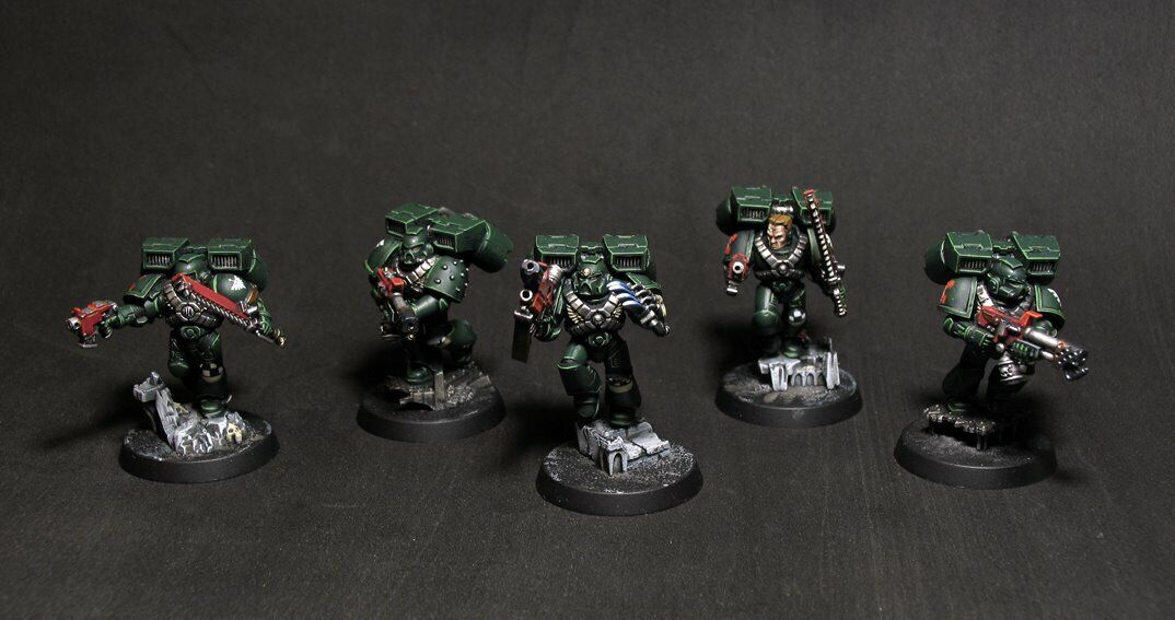 mas barato Warhammer 40k Ángeles oscuros Pro Pintado ASALTO Squad Squad Squad Miniatures  muy popular