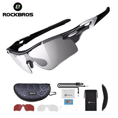 RockBros Cycling Photochromic Glasses Sunglasses Outdoor Sports Goggles Eyewear