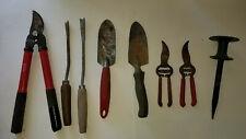 Lot Of 8 Assorted Mixed Garden Hand Tools