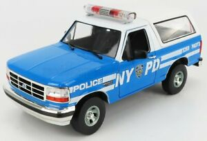 GREENLIGHT 1/18 FORD USA | BRONCO HARD-TOP CLOSED NEW YORK CITYT POLICE NYPD ...