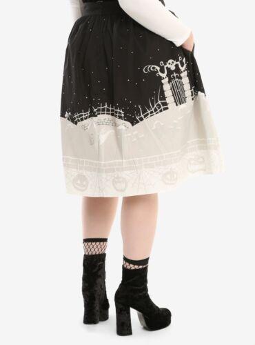 Disney The Nightmare Before Christmas Retro Skirt Graveyard Moon Plus Sz 26  28