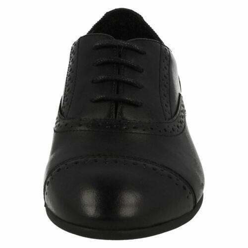 GIRLS YOUTH CLARKS SELSEY COOL LACE UP BROGUE SMART FORMAL SCHOOL SHOES SIZE
