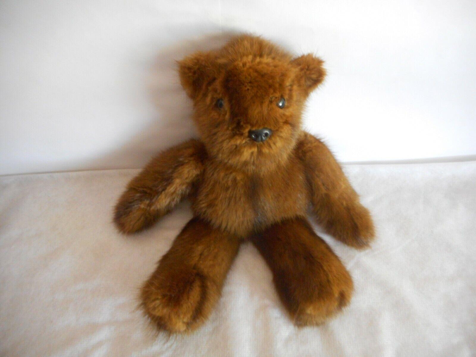 real fur teddy bear handmade