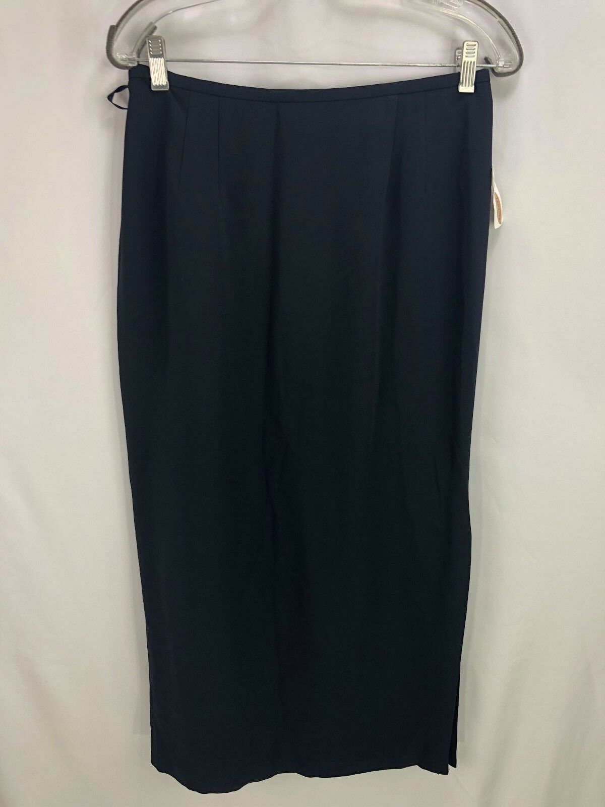 Talbots Women's bluee Long Skirt with slit Size 10 NWT Org  98