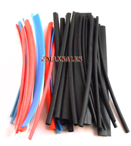 """96 BLACK /& COLOR HEAT SHRINK TUBING WRAP SLEEVES WIRE 3//8,1//2,1//8,1//16,3//16,1//4/"""""""