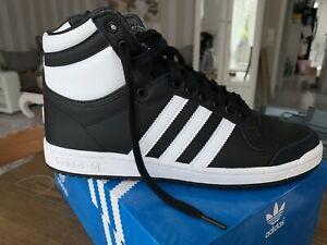 Adidas 🔥 Ten Hi Sneaker Chaussures Sleek Series Originals 10 1/2 Noir Blanc T 45