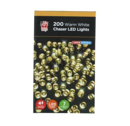 200 DEL Blanc Chaud Chaser Lumière de Noël-Parties-Célébrations