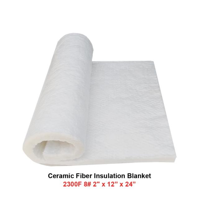 "Ceramic Fiber Blanket 2300F 8# High Temp Thermal Insulation 2/""x12/""x24/"""