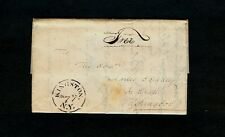 1830 Stencil KINGSTON NY 3pg Free to Senator Dudley in DC - Boat CONGRESS in NYC