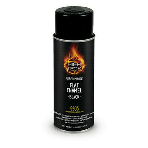 HIGH-TECK-Flat-Black-Enamel-Automotive-Spray-Paint-12-oz-9903