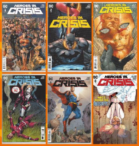 HEROES IN CRISIS #1 2 3 4 5 6 Batman Superman Flash Harley 1st PRINT 2018 NM- NM