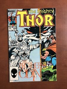 Thor-349-1984-7-5-VF-Marvel-Key-Issue-Brothers-Of-Odin-Odinforce-Comic-Book