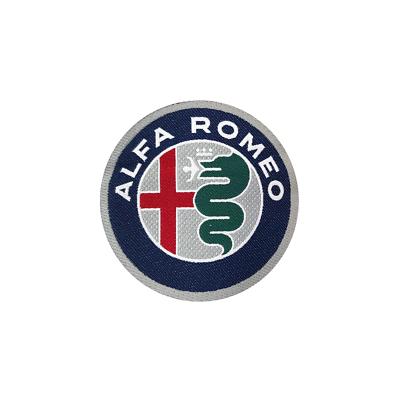 Alfa Romeo 21824 Toppe Patch Adesive Ufficiali Logo 50 mm Diam