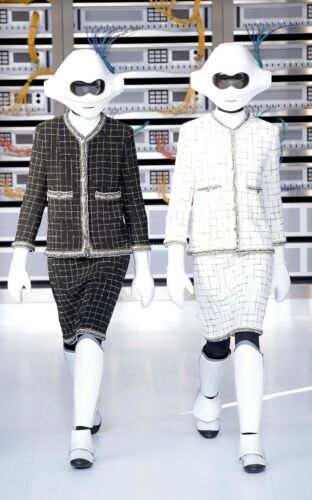 Chanel Data Center Spring Act I 2017 White Tweed S