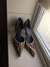 Aldo Pony Hair Animal Print Shoes UK Size 3, Eu Size 36