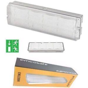 Extérieur Intérieur Urgence Issue De Secours Lumière 3 Heure Led Pas Cloison 9mflpowz-07215342-927212714