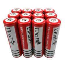 12 Pcs 18650 6800Mah 3.7V Li-ion Rechargeable Battery For Ultrafire Flashlight