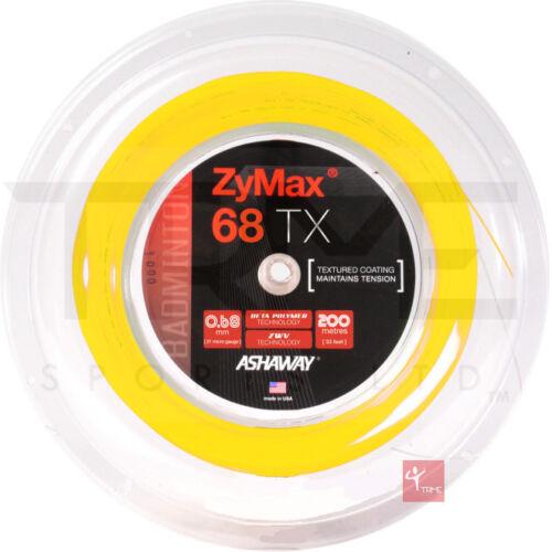 Ashaway ZyMax 68 TX Badminton 200m Reel Available in Orange,White,Yellow