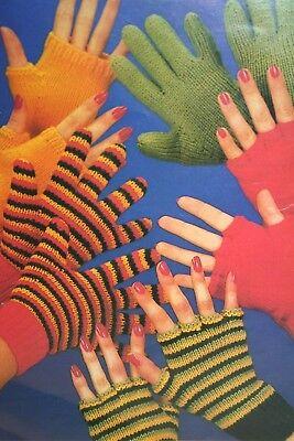 JN016 Gloves Fingerless Gloves and Fingerless Mittens KNITTING PATTERN