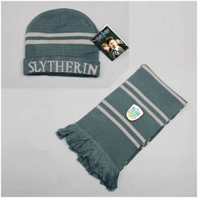 Harry Potter Slytherin Muffler Cap/Thickened Scarf Set Costume Cosplay