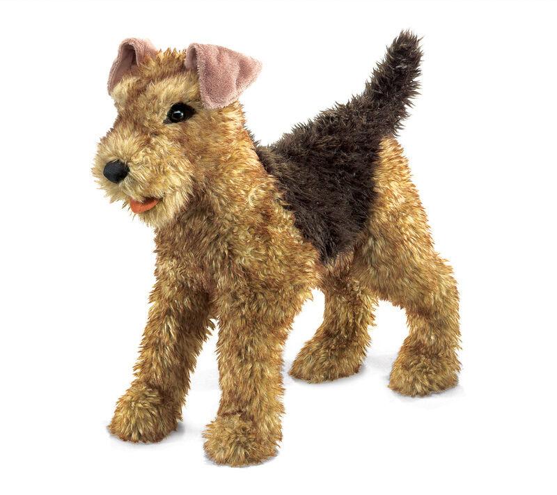NEW PLUSH SOFT TOY Folkmanis 2993 AiROTale Terrier Dog Full Body Hand Puppet
