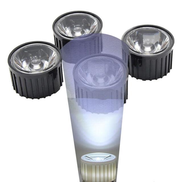 50PCS NEW Led Lens 90 Degree For 1w 3w 5w Lamp /& white Holder PMMA