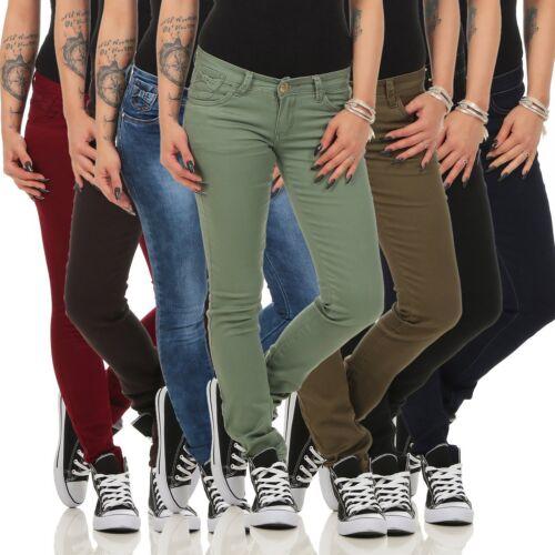 10205 tubi a donna Treggings Pantaloni Pantaloni Stretch Skinny Slimline Donna Pantaloni