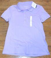 Lavender Croft & Barrow Classic Polo Shirt Short Sleeve Top