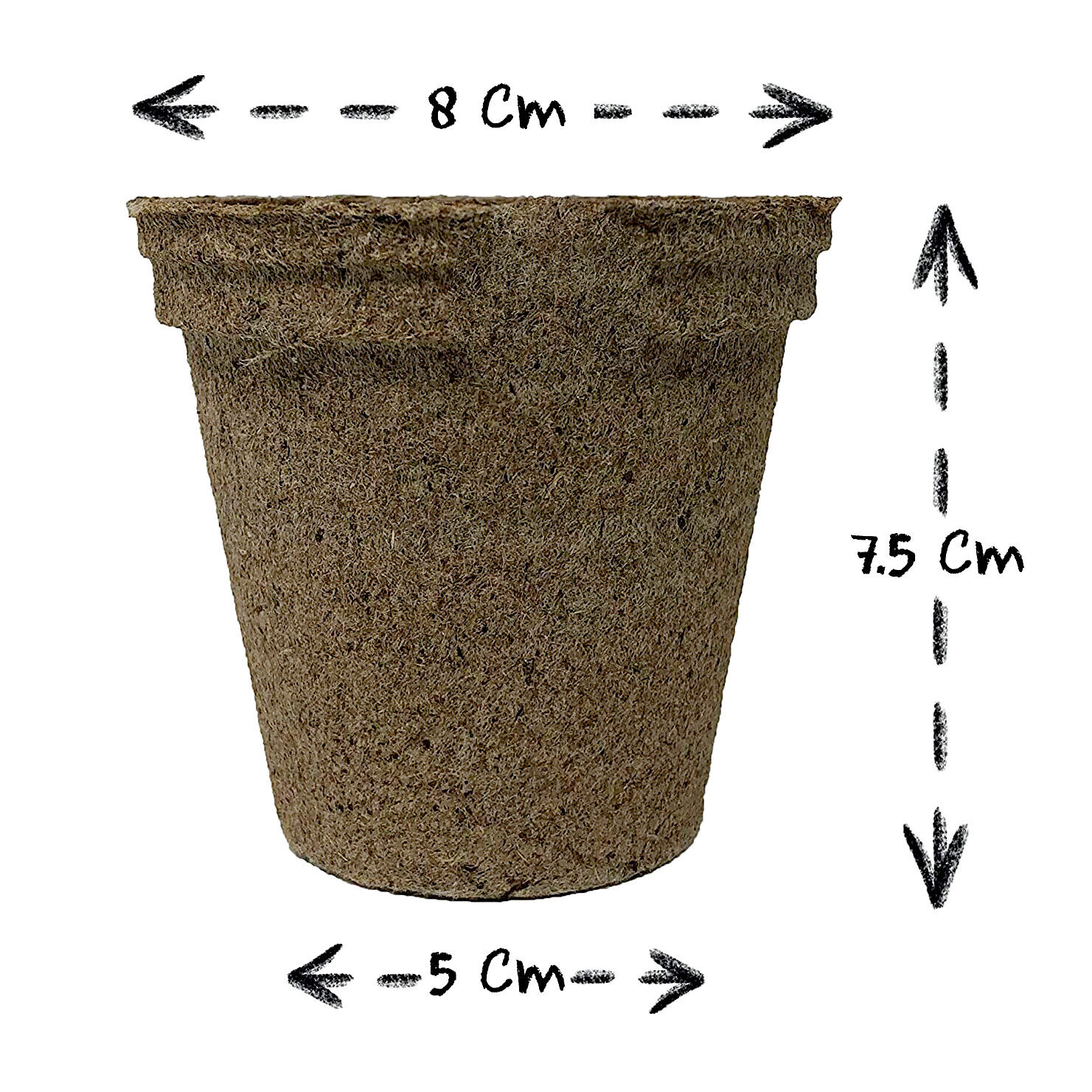72 x Round Seed Pots Starting Gardening Wood Pot Plant Peat Free Biodegradable