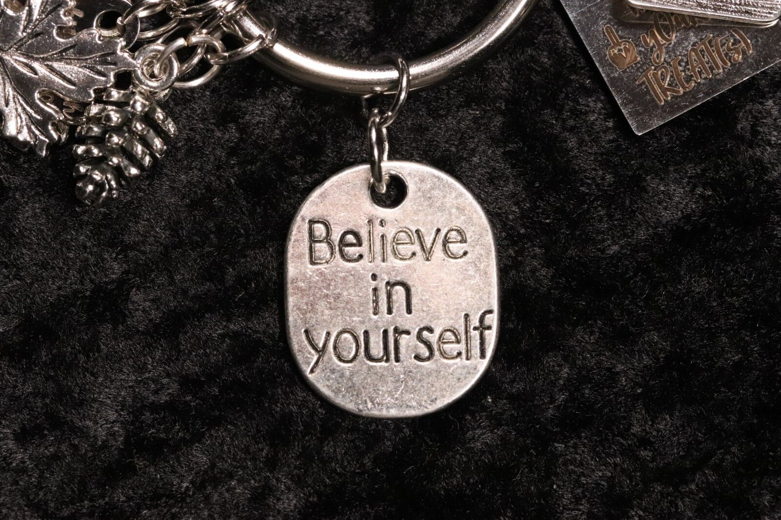 """Believe in yourself"" – Motivational Weight Loss Charm for Weight Watchers Ring s l1600"