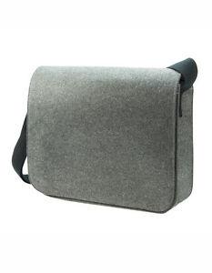 Halfar Courier Bag Modernclassic Schultertasche Umhängetasche Filz Organizer Neu