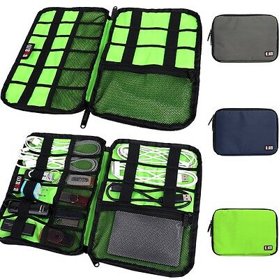Large Cable Organizer Bag can put Hard Drive Cables USB Flash Drives Travel Gift