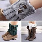 Damen Häkelarbeitknit Beinstulpen Strickstulpen Kurz Mini Stulpen Stiefel Socken