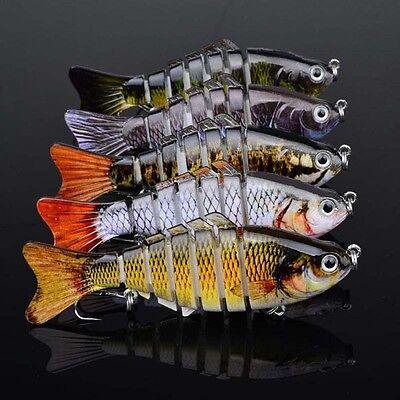 Lot 1 pc Kinds of Fishing Lures Crankbaits Hooks Minnow Baits Tackle useful