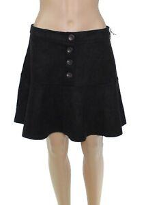 HYFVE-Womens-Skirt-Classic-Black-Size-Large-L-A-Line-Button-Detail-42-228