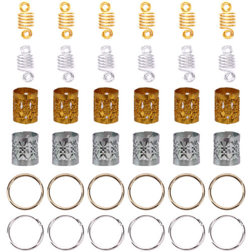 60pcs//Set Hair Braid Dreadlock Beads Braiding Hair Extension Accessories  np