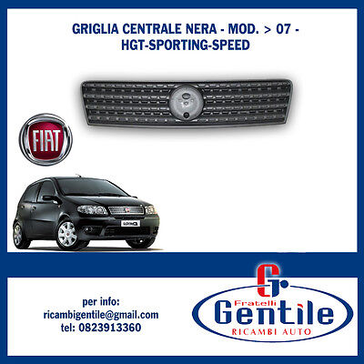 GRIGLIA RADIATORE NERA COFANO ANTERIORE FIAT PUNTO 03/>07 2003/>2007 HGT SPORTING