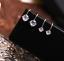 No Perforado Cristal Circonia Cúbica Tachuelas Pendientes De Clip Joyería para mujeres chicas