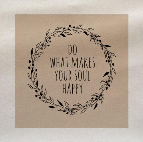 Haz lo que hace que tu alma feliz De Tela De Algodón Panel hacer Cojín Tapicería Craft