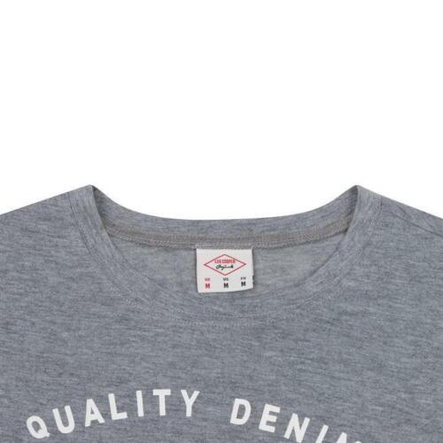 Mens T Shirts Lee Cooper Print Top Short Sleeve Tee Crew M L XL XXL Medium Large