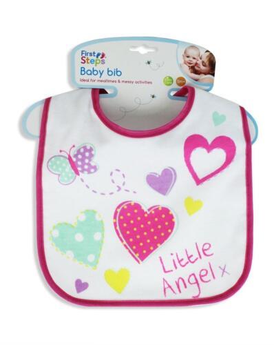 Baby Bib Little Star Little Angel Boys /& Girls Bibs Dribble Catcher Feeding Velc