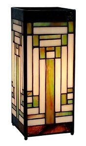 27 5 Cm Tiffany Style Carre Lampe De Table Art Deco Design Abat